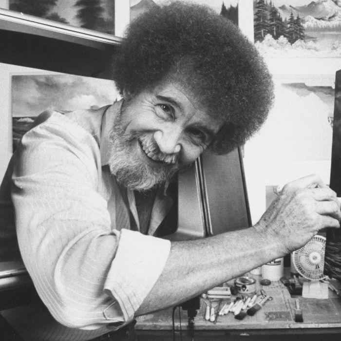 Bob Ross S Hair Was Actually Straight