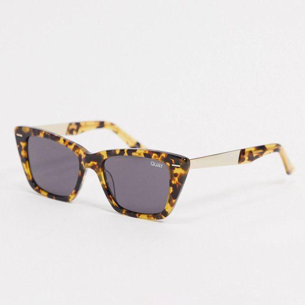 Quay Prove It Womens Cat Eye Sunglasses in Tort