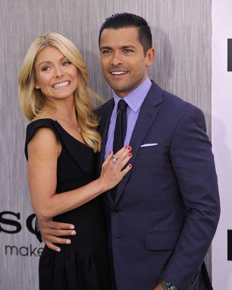 NEW YORK, NY - MAY 23: Kelly Ripa and Mark Consuelos attend the