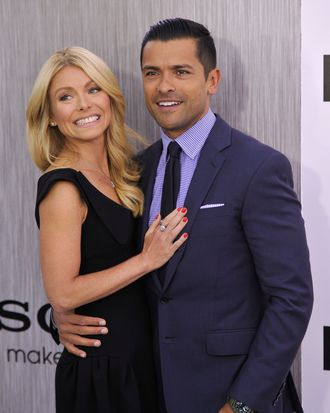 NEW YORK, NY - MAY 23: Kelly Ripa and Mark Consuelos attend the