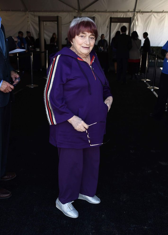 Oscars 2018 Agn 232 S Varda Wore Gucci On The Red Carpet
