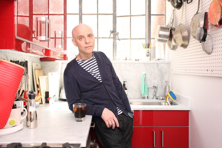 Rakoff, at home in his kitchen.