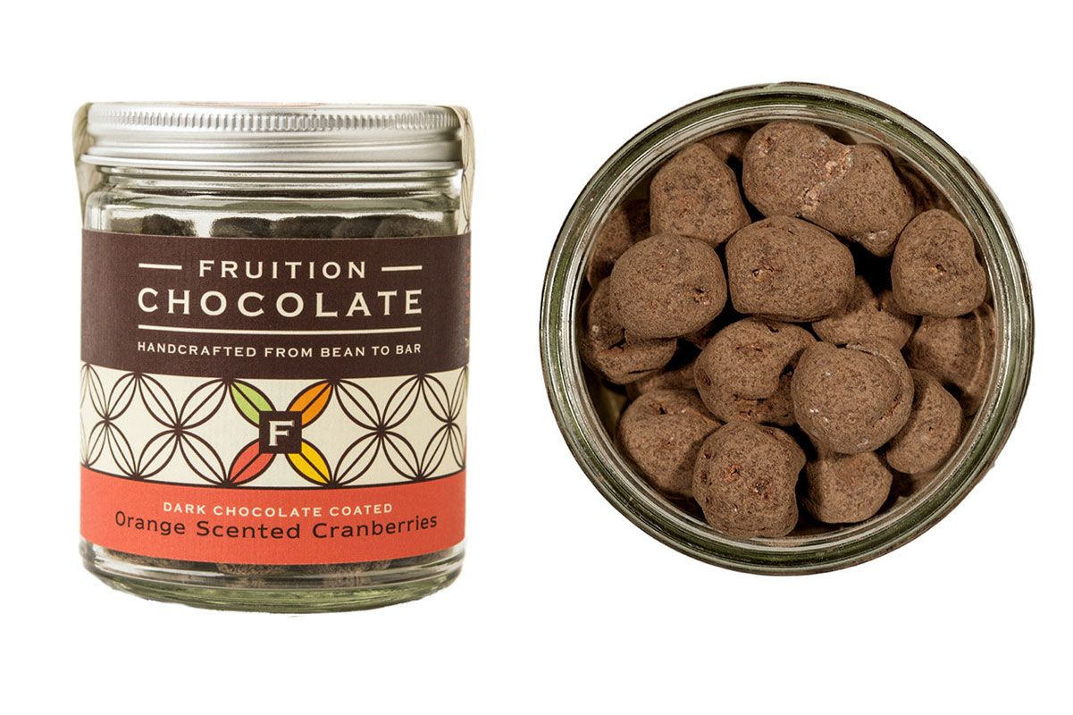 Fruition Chocolate Dark Chocolate Coated Orange Scented Cranberries