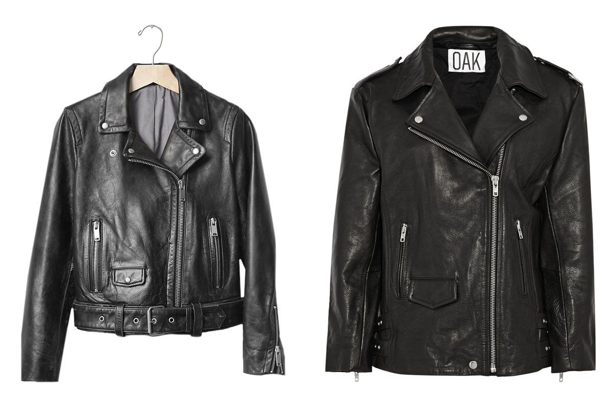 Womens leather and sweater jacket