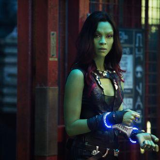 Marvel's Guardians Of The Galaxy..Gamora (Zoe Saldana)..Ph: Jay Maidment..?Marvel 2014