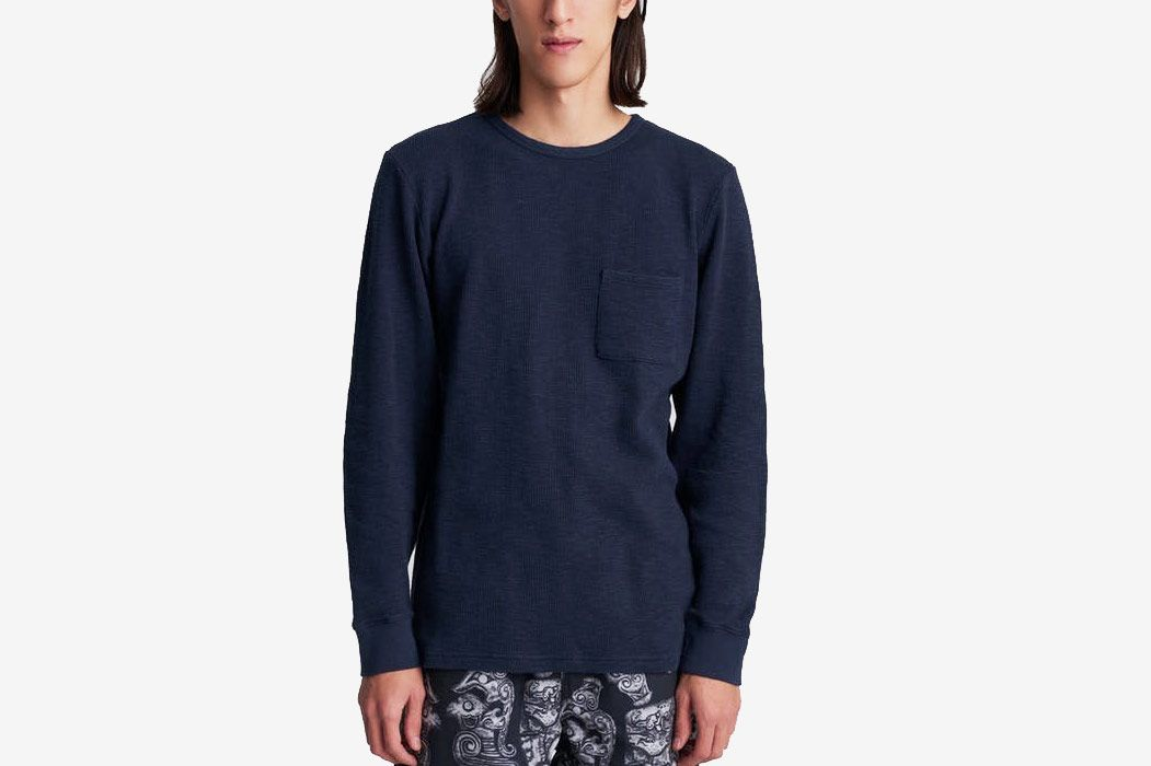 Saturdays NYC James Waffle Long Sleeve Shirt
