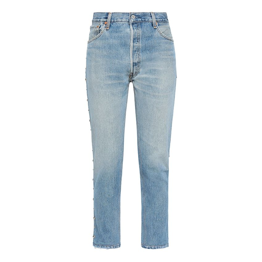RE/DONE by Levi's Studded high-rise slim-leg jeans
