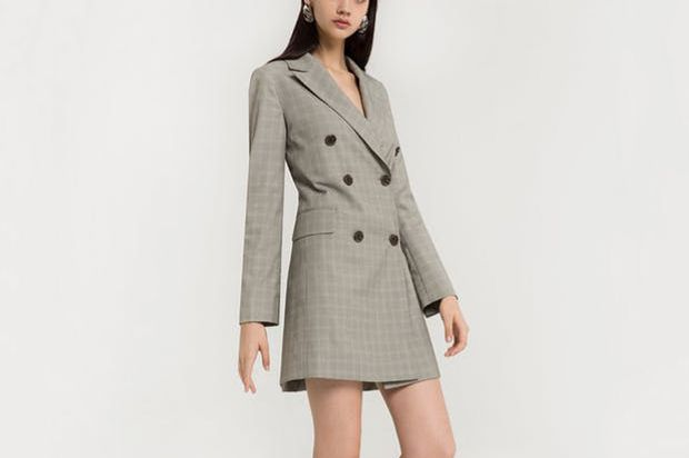Pixie Market Double Breasted Blazer Dress