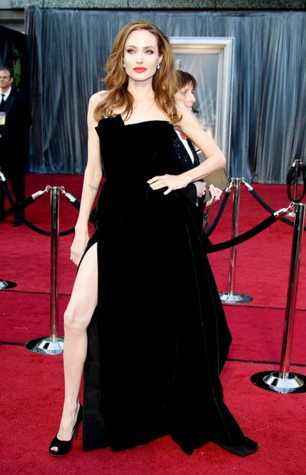 Photo 17 from Angelina Jolie's Right-Leg Dress