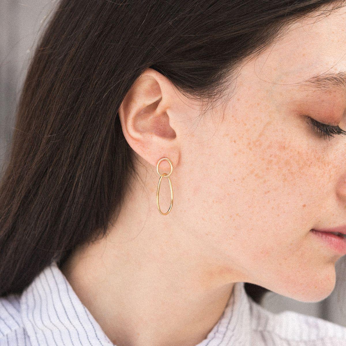 Solid silver earrings designer jewelry trendy earrings dainty earrings