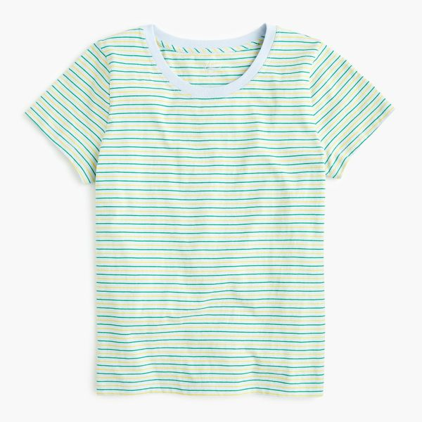 J.Crew Essential T-shirt in Venice Stripe Shale Blue