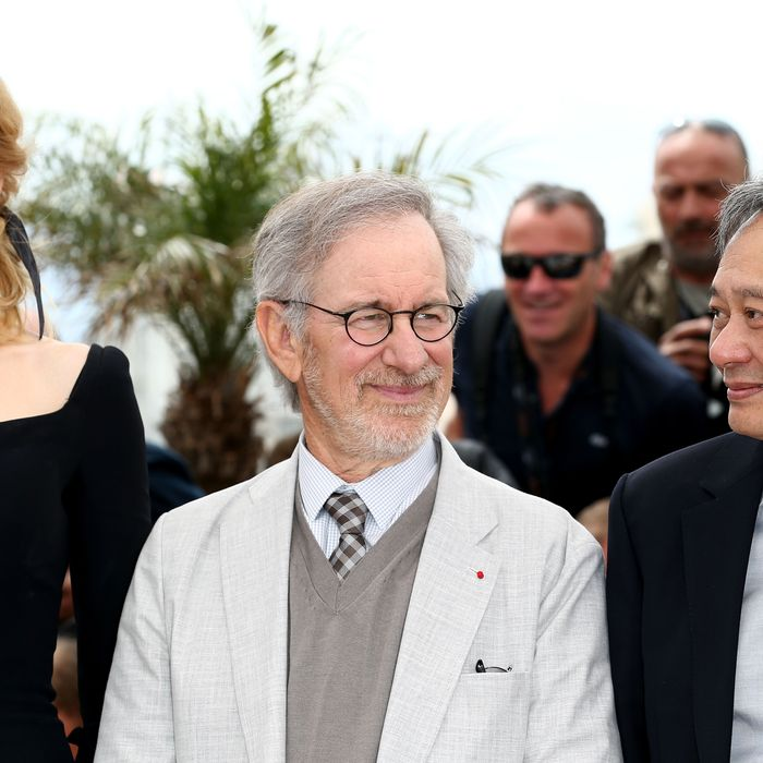 (L-R)Jury members Nicole Kidman, Steven Spielberg and Ang Lee attend the Jury Photocall during the 66th Annual Cannes Film Festival at the Palais des Festivals on May 15, 2013 in Cannes, France.