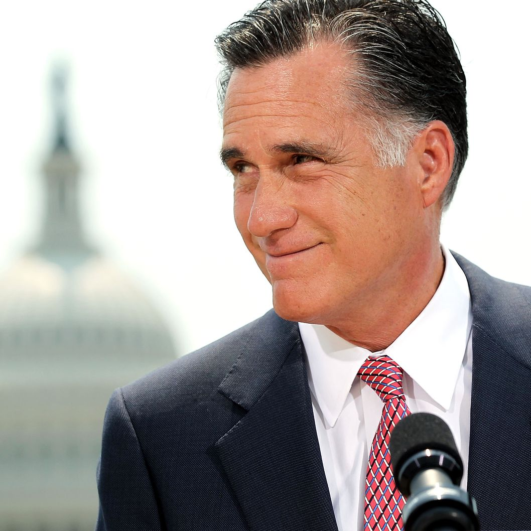 WASHINGTON, DC - JUNE 28:  Republican U.S. Presidential candidate and former Massachusetts Governor Mitt Romney speaks in response to the U.S. Supreme Court ruling on the Affordable Healthcare Act with the U.S. Capitol in the background, June 28, 2012 in Washington, DC. The Supreme Court ruled that the entire law was constitutional and did not strike down any part.  (Photo by Alex Wong/Getty Images)