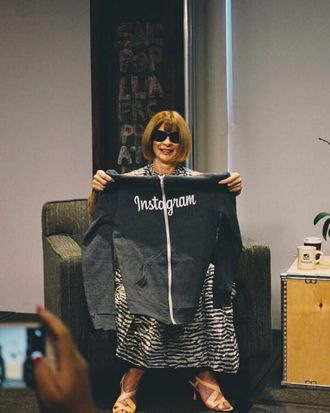 Anna Wintour and a hoodie.