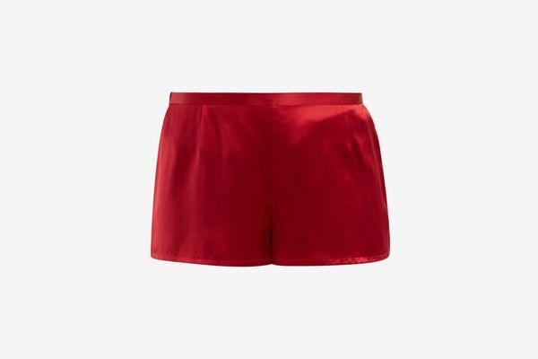 La Perla Silk-Satin Pajama Shorts