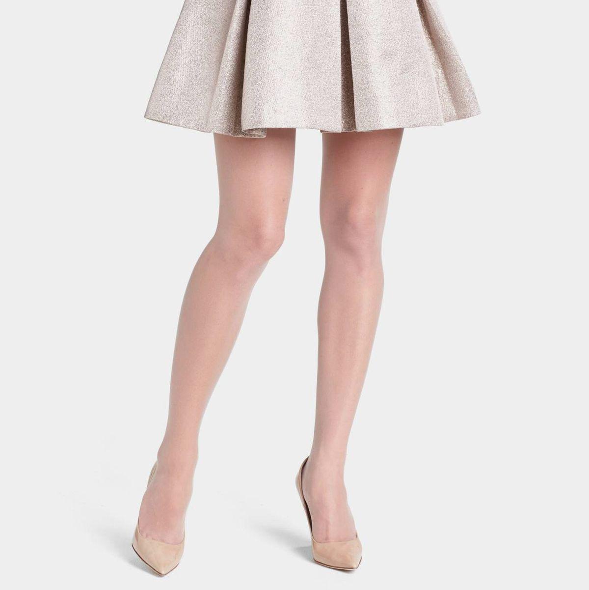 5 Pairs  Beautiful White Sheer Medium Size 15 Denier Stockings
