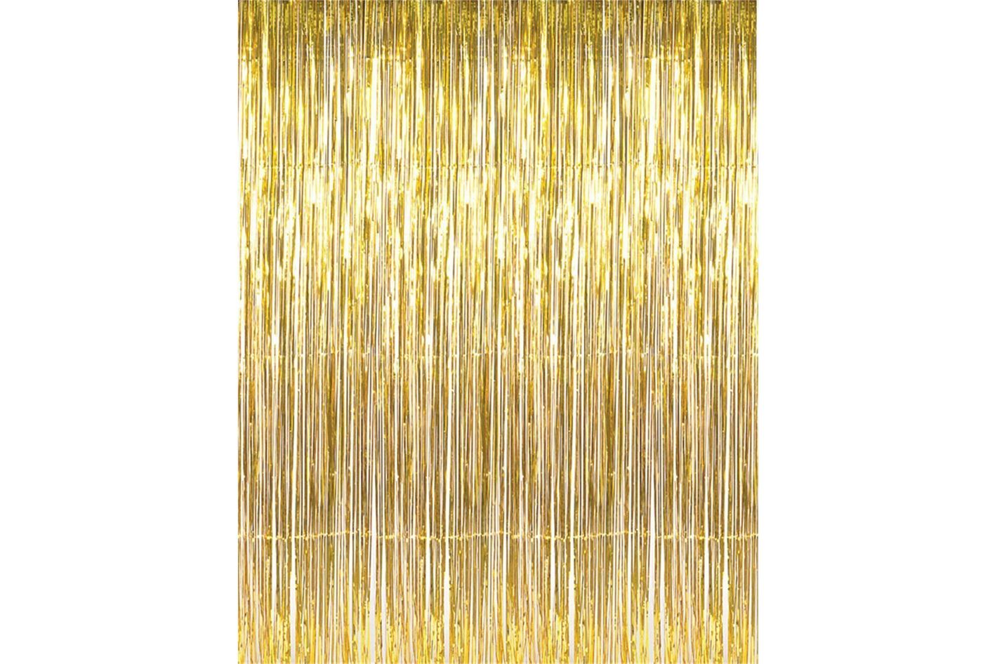 GOER 3.2-by-9.8 Foot Metallic Tinsel Foil Fringe Curtains
