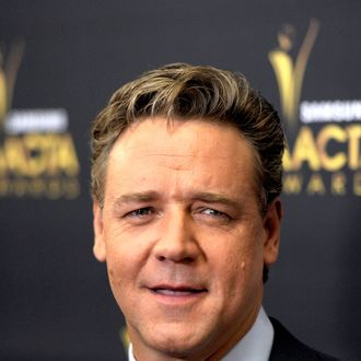 Actor Russell Crowe arrives at the Australian Academy Of Cinema And Television Arts' 1st Annual Awards at Soho House on January 27, 2012 in West Hollywood, California.
