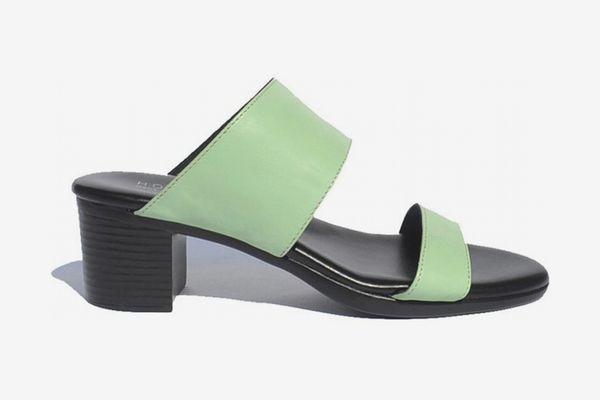 Hopp Two Strap Sandal - Mint Leather