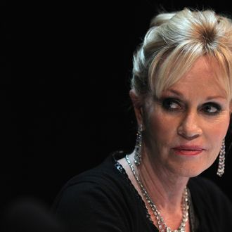 US actress Melanie Griffith participates in a panel talk at The Black Box during the Munich film festival on July 3, 2012 in Munich, Germany.