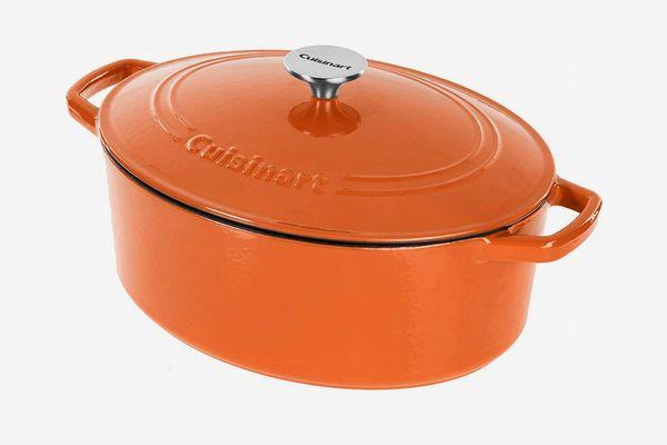 Cuisinart Cast Iron Casserole, Terracotta Orange, 5.5 Quart