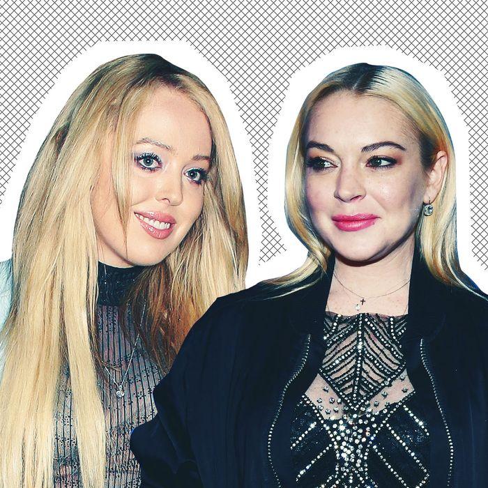 Tiffany Trump and Lindsay Lohan.