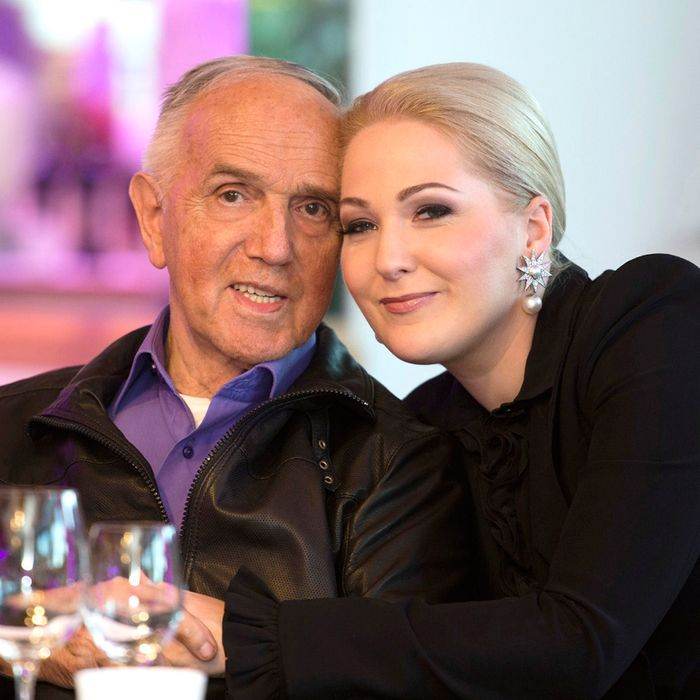 Austrian gun maker Gaston Glock celebrated his 85th birthday with his wife Kathrin.