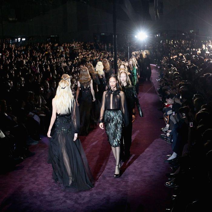 Gucci's fall 2012 show.