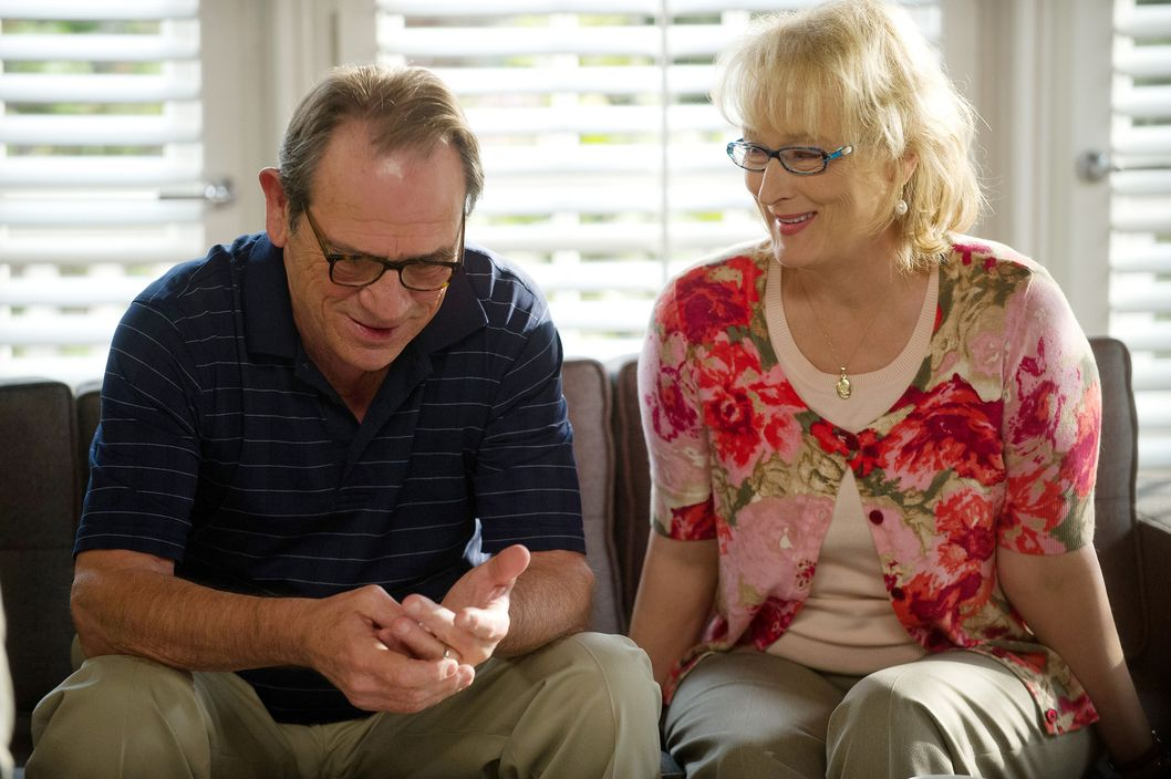 Arnold Soames (TOMMY LEE JONES) and Kay Soames (MERYL STREEP) in Columbia Pictures' HOPE SPRINGS.