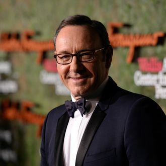 BEVERLY HILLS, CA - OCTOBER 17: Actor Kevin Spacey arrives at the Wallis Annenberg Center for the Performing Arts Inaugural Gala presented by Salvatore Ferragamo at the Wallis Annenberg Center for the Performing Arts on October 17, 2013 in Beverly Hills, California. (Photo by Jason Merritt/Getty Images for Wallis Annenberg Center for the Performing Arts)