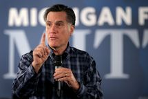TROY, MI - NOVEMBER 10: Republican presidential candidate and former Massachusetts Governor Mitt Romney speaks to supporters during a rally at the American Polish Cultural Center on November 10, 2011 in Troy, Michigan. On Wednesday Romney squared off against the seven other leading GOP presidential candidates during a debate at Oakland University in Rochester, Michigan. (Photo by Scott Olson/Getty Images)