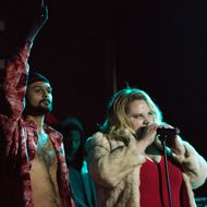 Siddharth Dhananjay and Danielle Macdonald in the film PATTI CAKE$. 