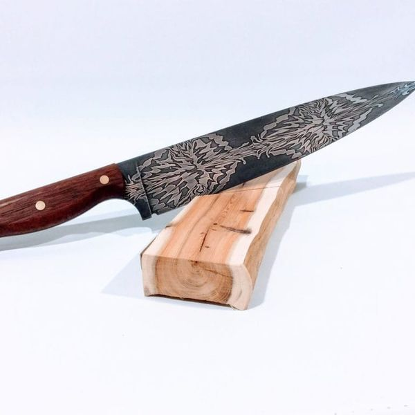 Falcon Forge 'Starburst' Pattern Damascus Steel Chef's Knife