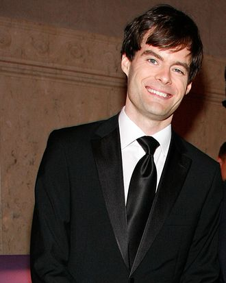 NEW YORK, NY - NOVEMBER 10: (L to R) Bill Hader and Fred Armisen attend the 2011 American Museum of Natural History gala at the American Museum of Natural History on November 10, 2011 in New York City. (Photo by Andy Kropa/Getty Images)