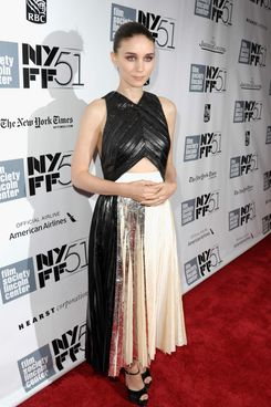 "Actress Rooney Mara attends the Closing Night Gala Presentation Of ""Her"" during the 51st New York Film Festival at Alice Tully Hall at Lincoln Center on October 12, 2013 in New York City."