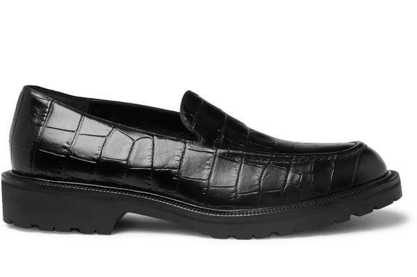 Dries Van Noten Croc-effect Loafers