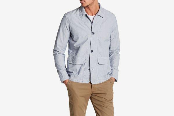 Save Khaki Novelty Pinstripe Jacket