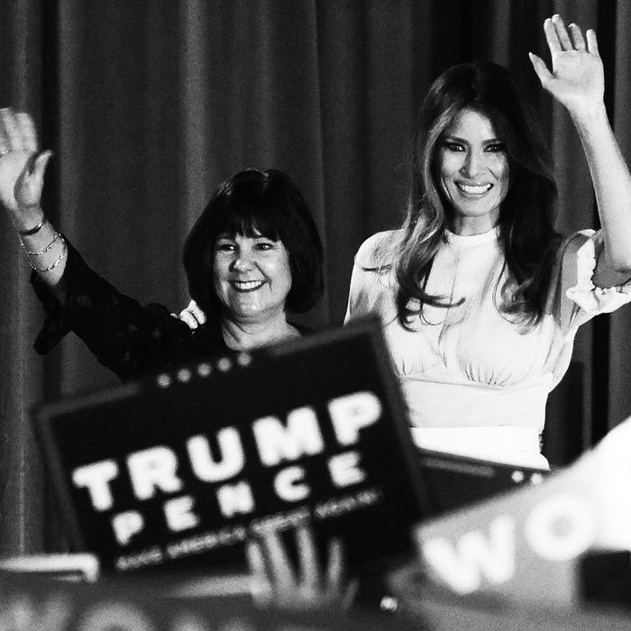Karen Pence and Melania Trump.