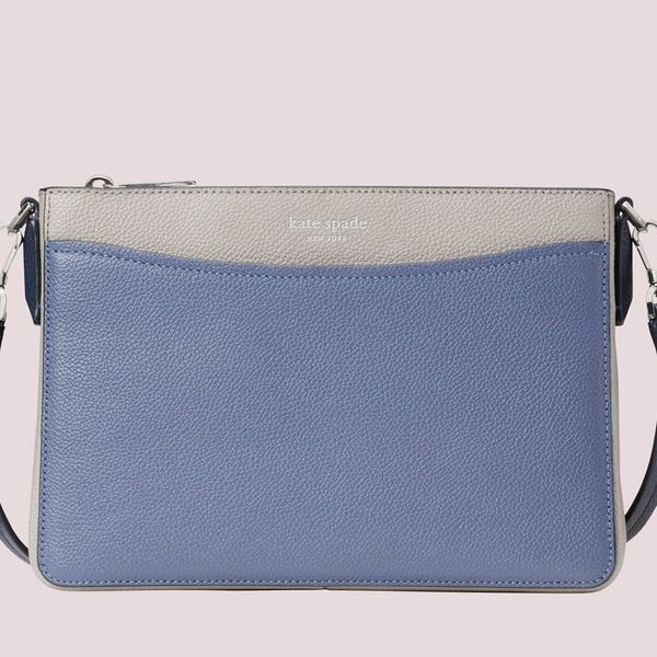 Kate Spade Margaux Medium Convertible Crossbody purse blue and grey - Strategist best blue and grey crossbody purse