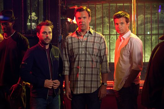 "(L-r) CHARLIE DAY as Dale Arbus, JASON SUDEIKIS as Kurt Buckman and JASON BATEMAN as Nick Hendricks in New Line Cinema's comedy ""HORRIBLE BOSSES,"" a Warner Bros. Pictures release."