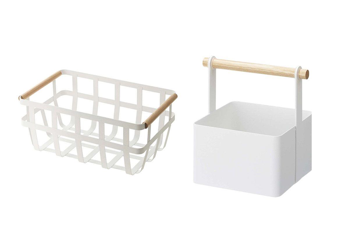 Yamazaki home 2508 15.2 x 8.7 in. Tosca Storage Basket