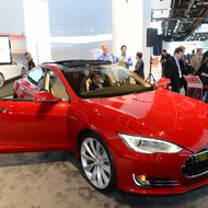 The Tesla Model S, Motor Trend Car of the Year is introduced at the 2013 North American International Auto Show in Detroit, Michigan, January 15, 2013.
