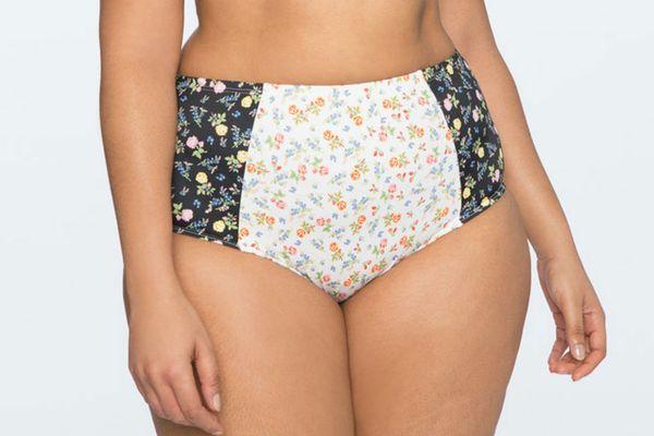 Printed High Waisted Bikini Bottoms