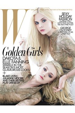 The Fanning sisters on this month's 'W'.
