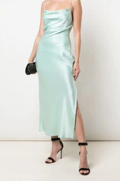 Alice + Olivia Cowl Neck Slip Dress