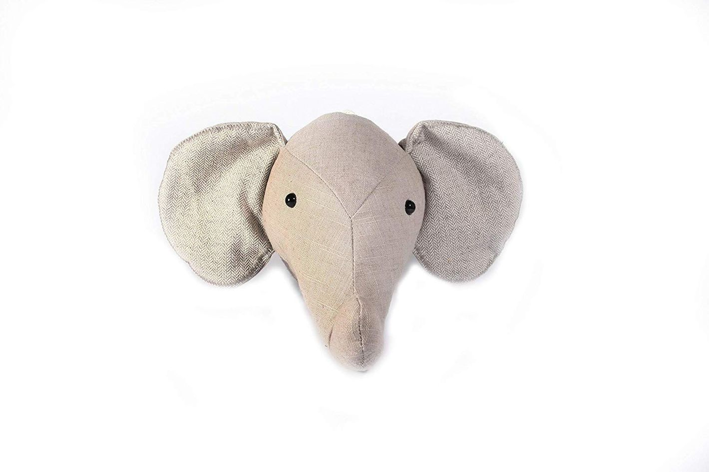 Elephant Stuffed Animal Head Wall Mount