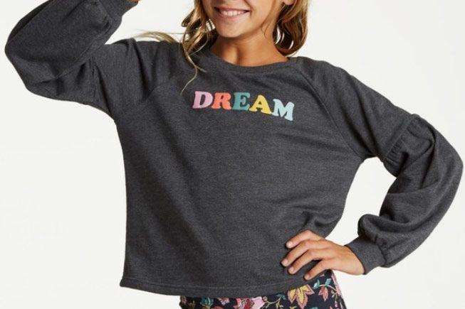 Billabong Girls' Full Bloom Pullover Crew