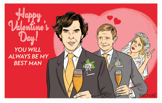 Send a Sherlock Watson Valentines Day Card Vulture – How to Send a Valentine Card