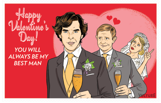 send your special someone a sherlock and dr watson valentines day card