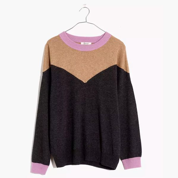Madewell Colorblock Yoke Pullover Sweater